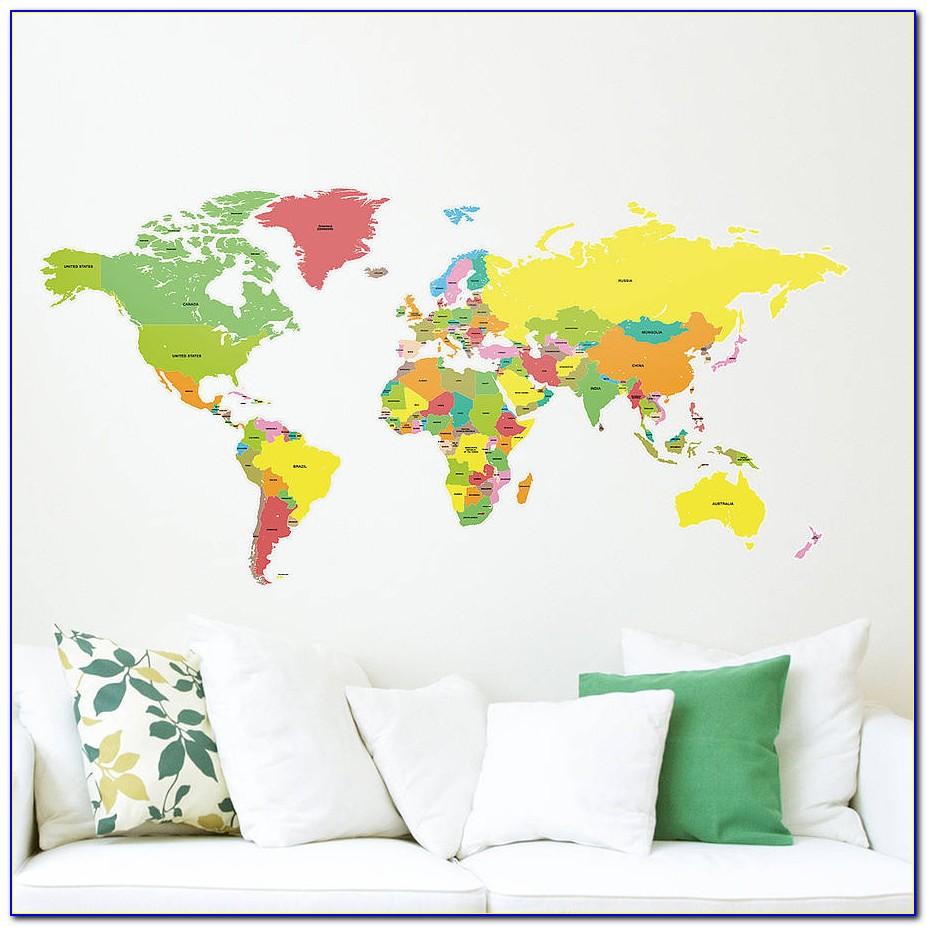 World Map Sticker Wall Art