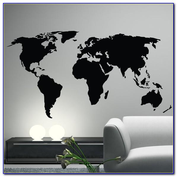World Map Vinyl Wall Decal