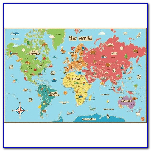 World Map Wall Decal Target
