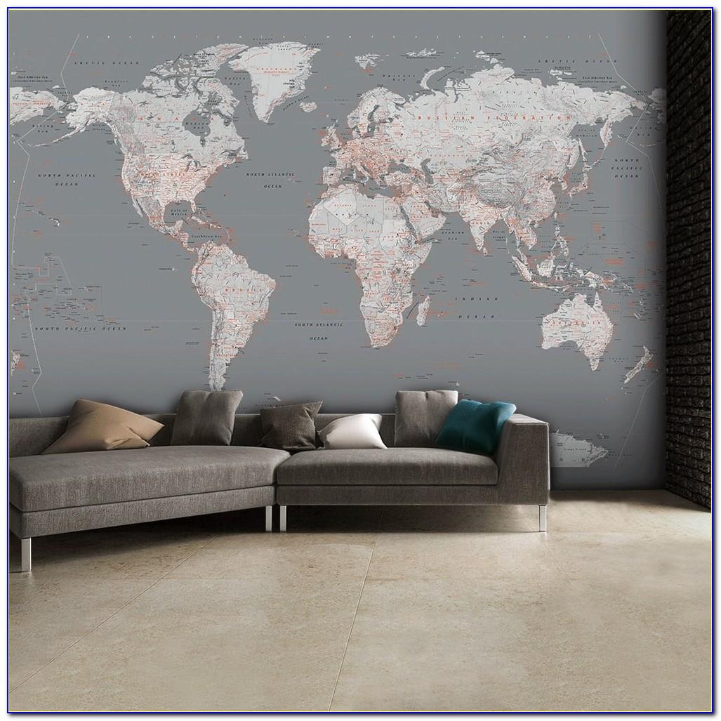 World Map Wall Mural Amazon
