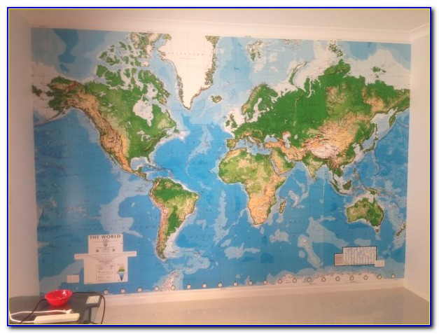 World Map Wall Mural Decal