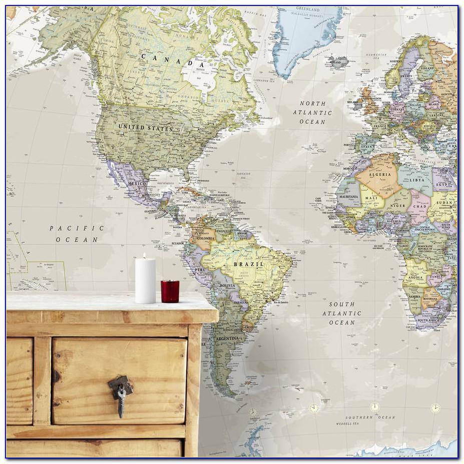 World Map Wall Mural Ikea