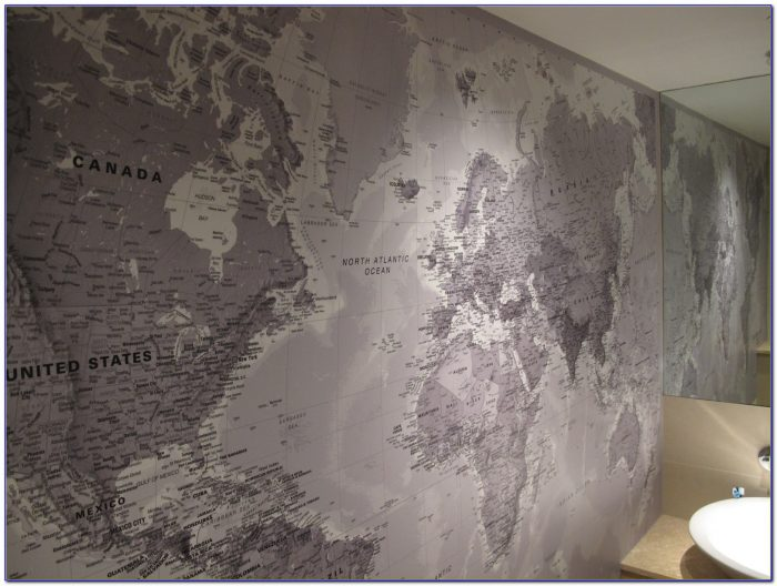World Map Wall Mural Sticker