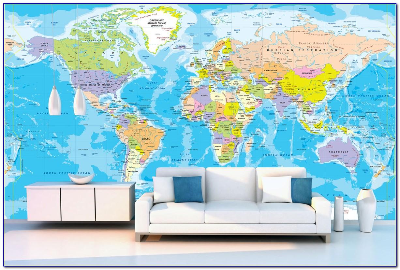 World Map Wall Mural Vinyl Decal