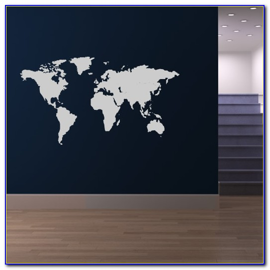 World Map Wall Sticker Amazon