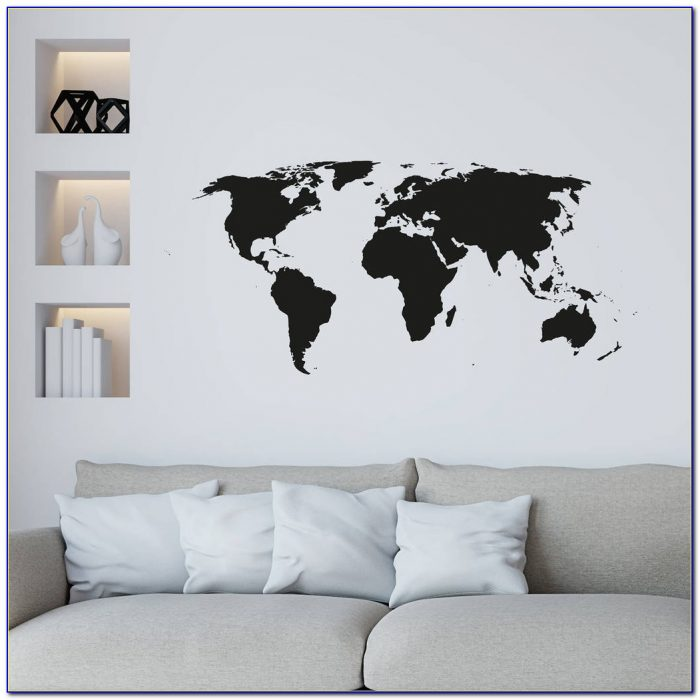 World Map Wall Sticker Ebay