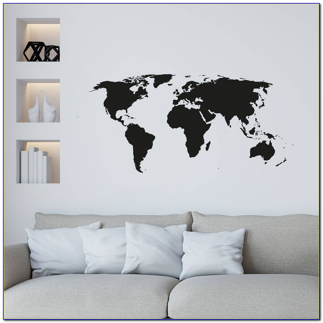 World Map Wall Sticker Ebay
