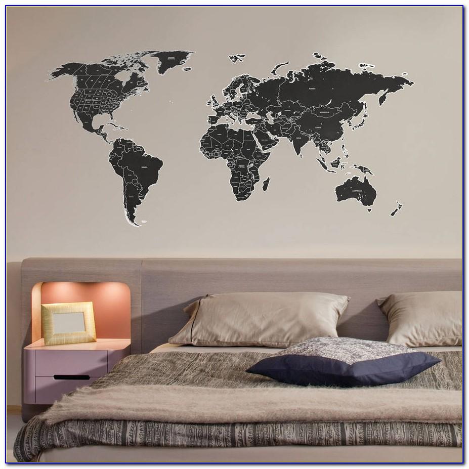 World Map Wall Sticker Flipkart