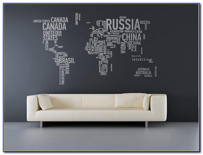 World Map Wall Sticker South Africa