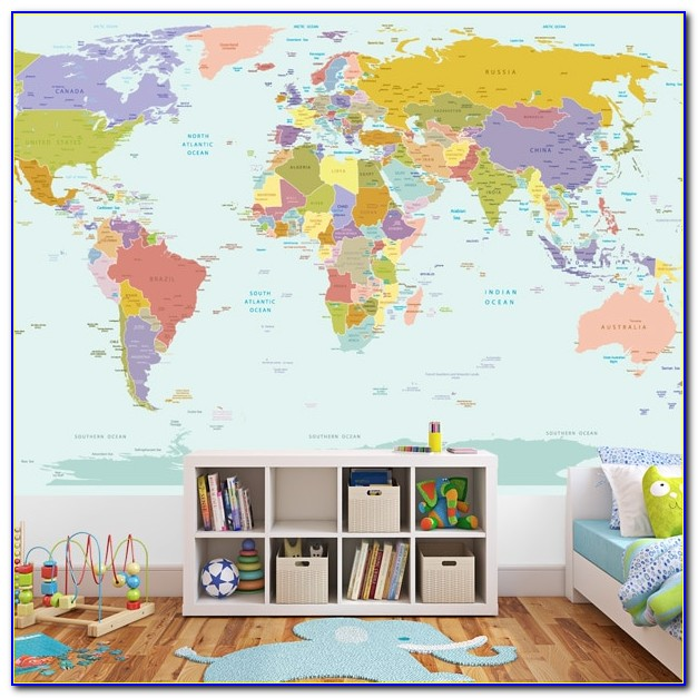 World Map Wall Sticker With Destination Markers