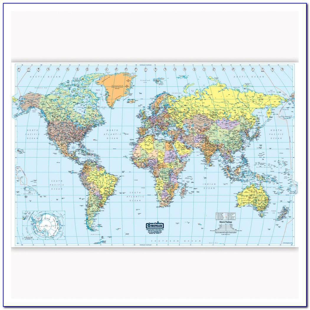 World Maps Laminated