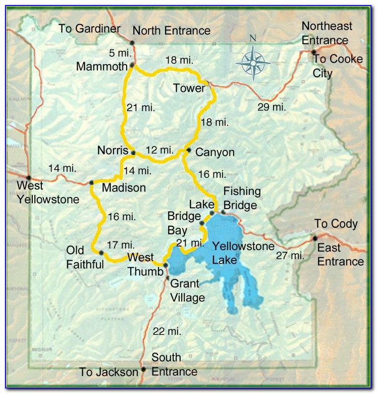 Yellowstone National Park Accommodation Map