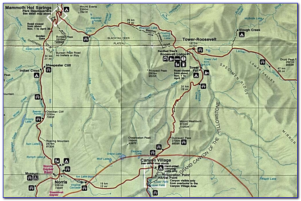 Yellowstone Upper Loop Map
