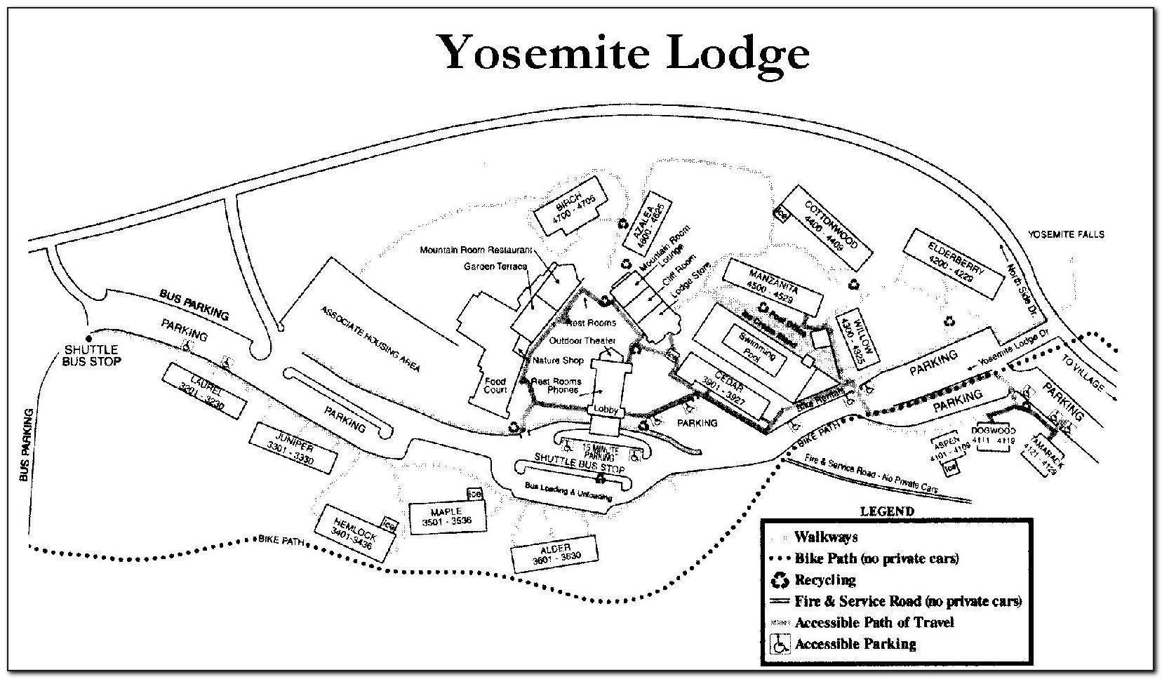 Yosemite Hotel Map