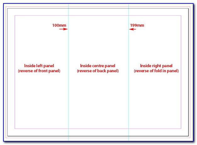 11x17 Trifold Template Indesign