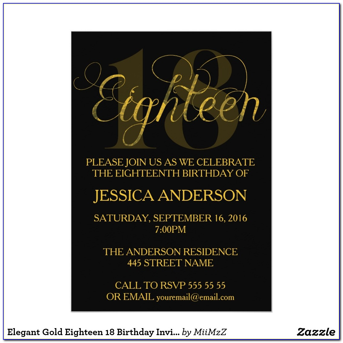 18th Birthday Invitation Templates Printable Free