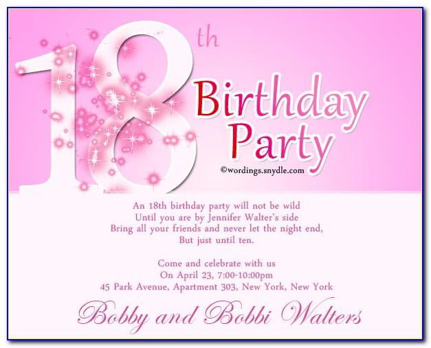 18th Birthday Invitation Templates Word