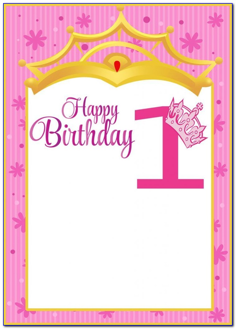 1st Birthday Card Template Word
