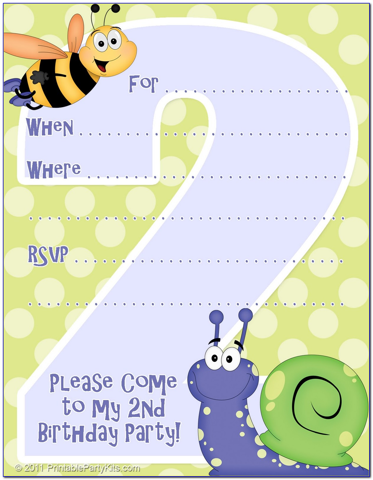 2nd Birthday Invitation Templates
