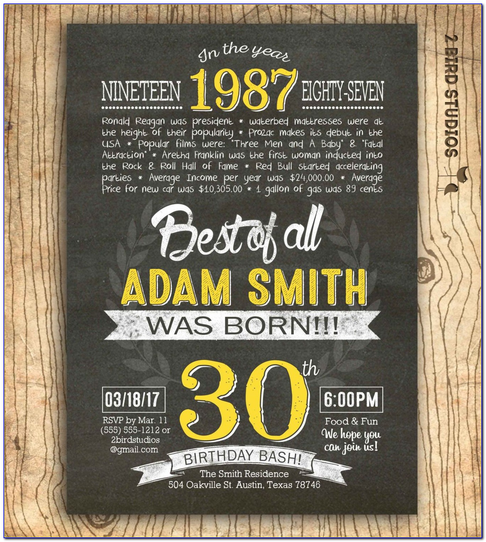 30th Anniversary Invitations Templates Free