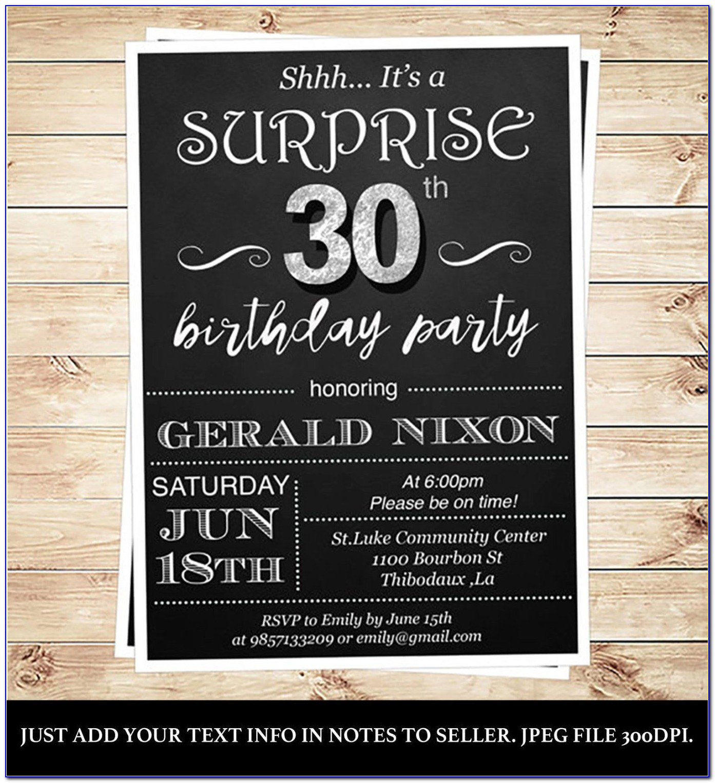 30th Birthday Invitation Templates Free Printable