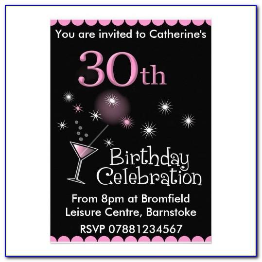 30th Invitation Templates Free