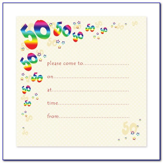 50th Birthday Invitation Template Free