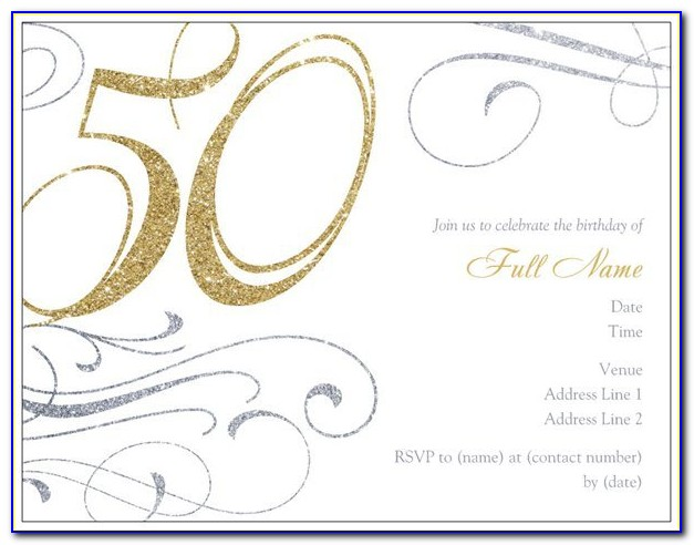 50th Birthday Invitation Templates Free Printable 639