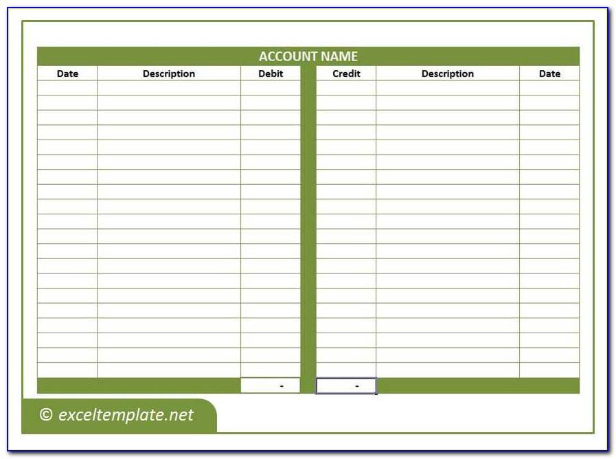Accounting Ledger Template Printable