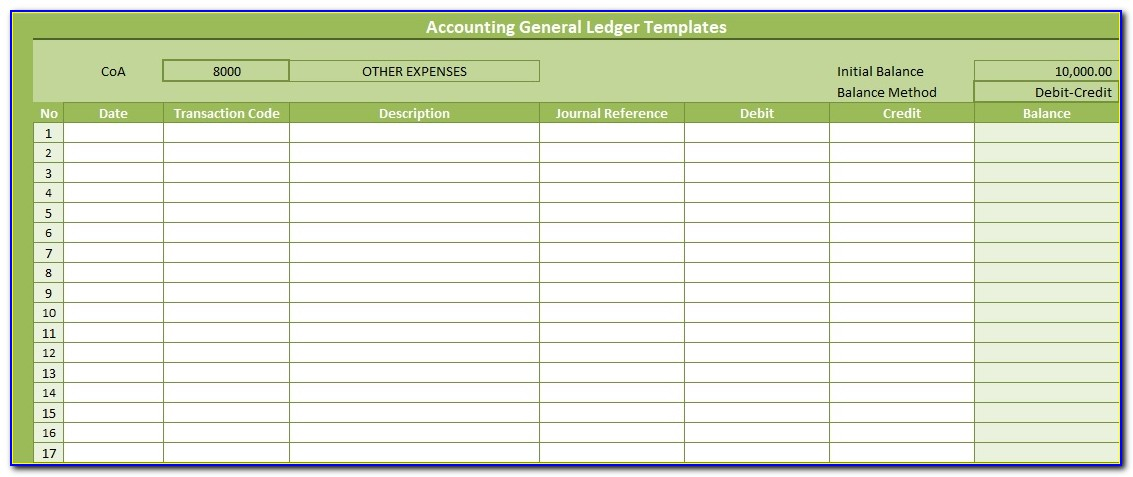 Accounting Ledger Template Word