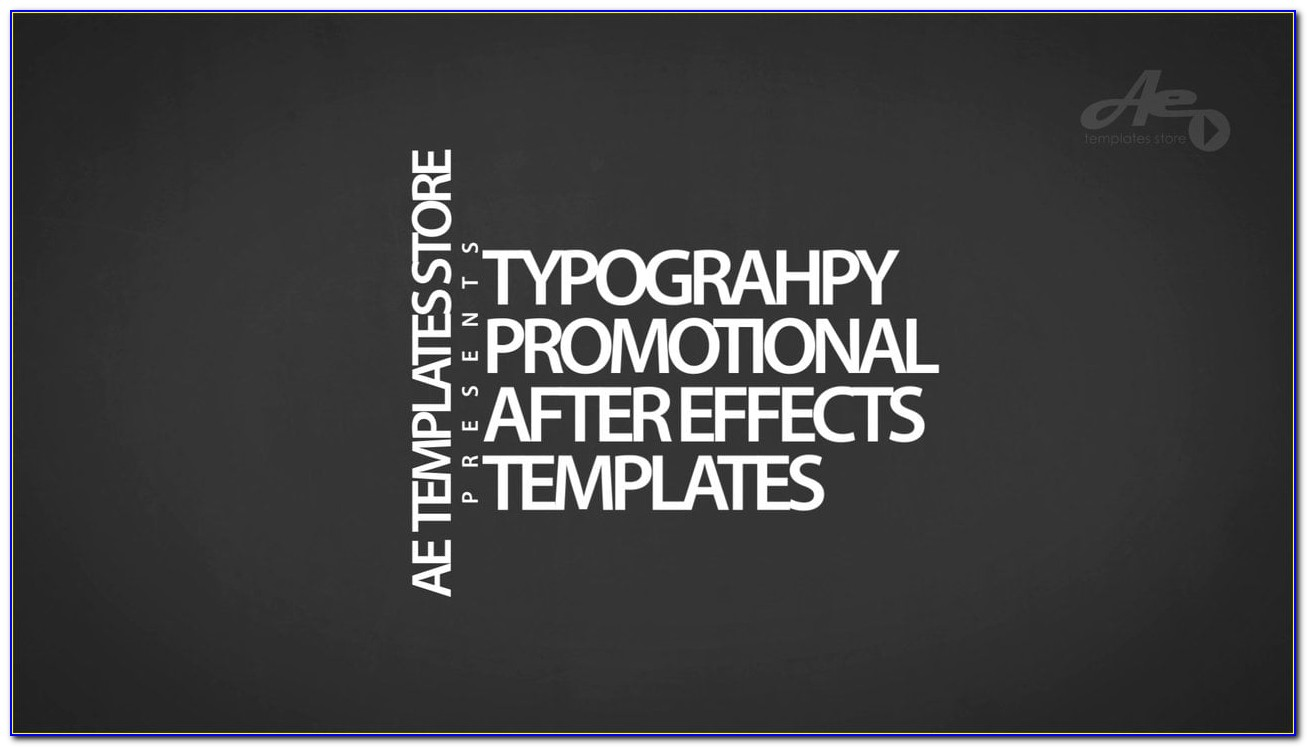 After Effects Typography Templates Free Download
