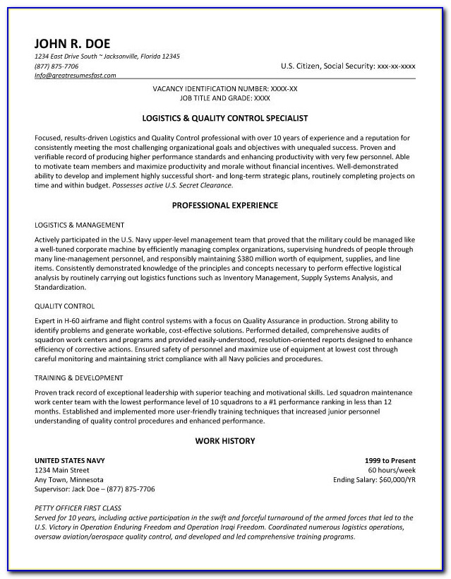 Federal Resume Format 2016 How To Get A Job •. Federal Resume Throughout Usajobs Sample Resume