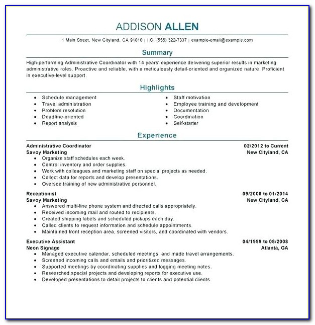 Ashford University Resume Builder Tool