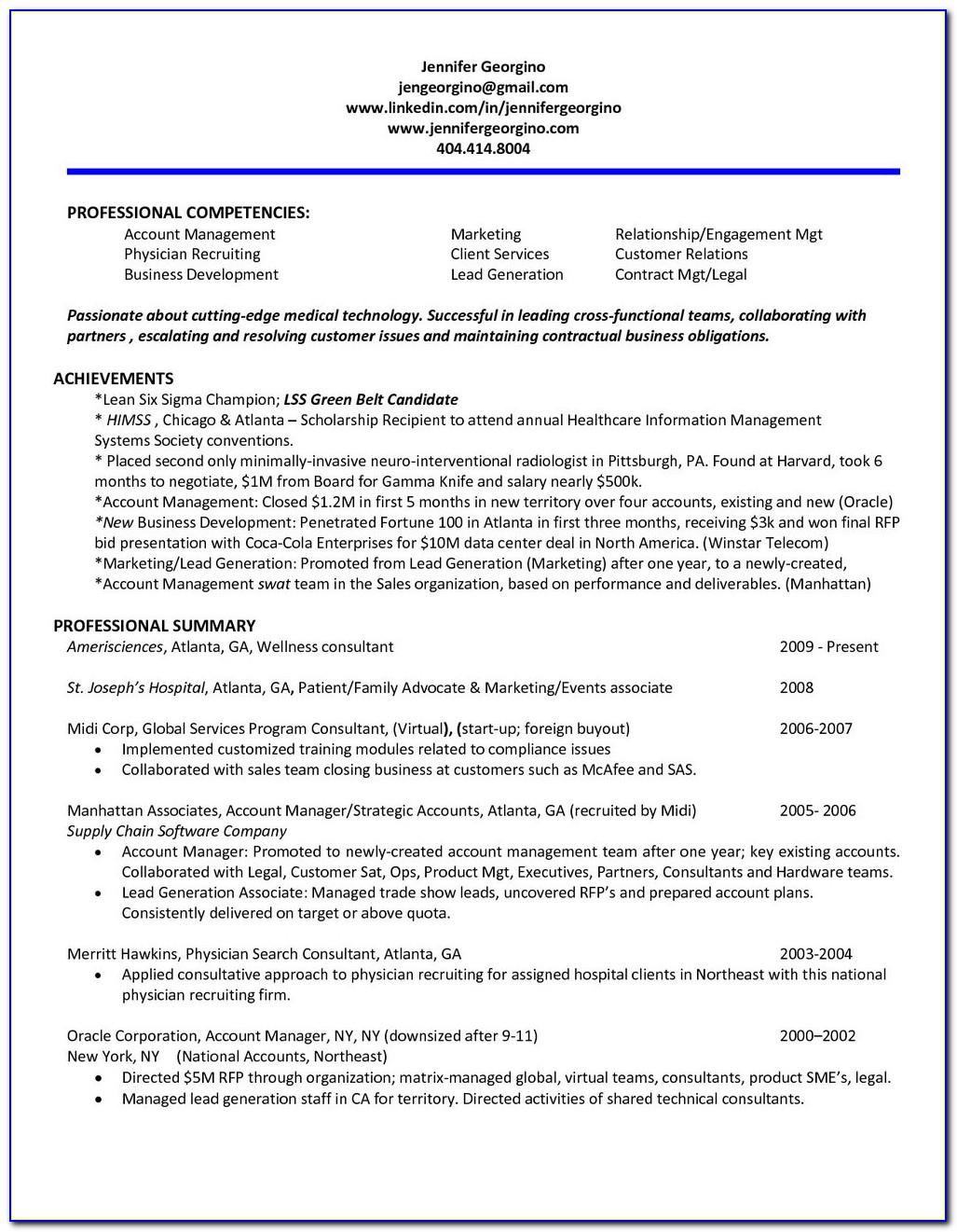 Atlanta Professional Resume Writing Service