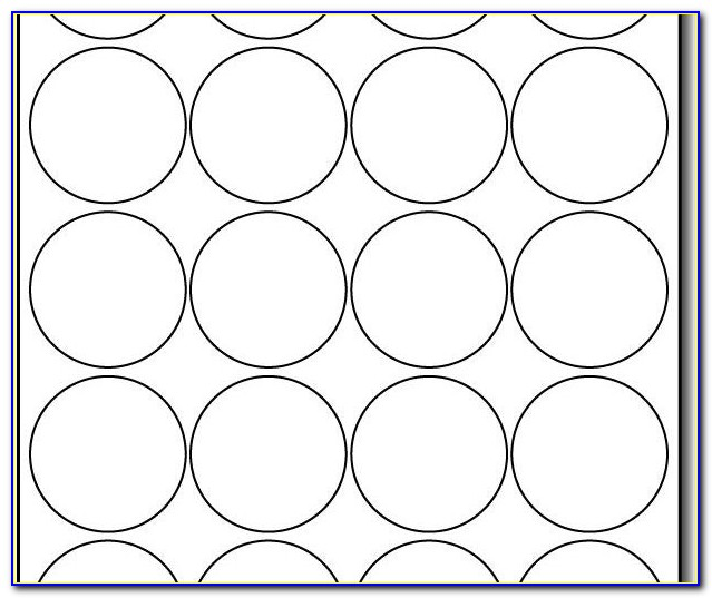 Avery Round Label Template 22830