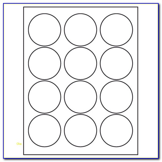 Avery Round Label Template 5408