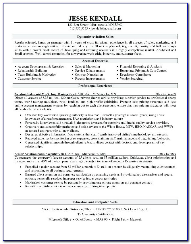 Aviation Resume Builder