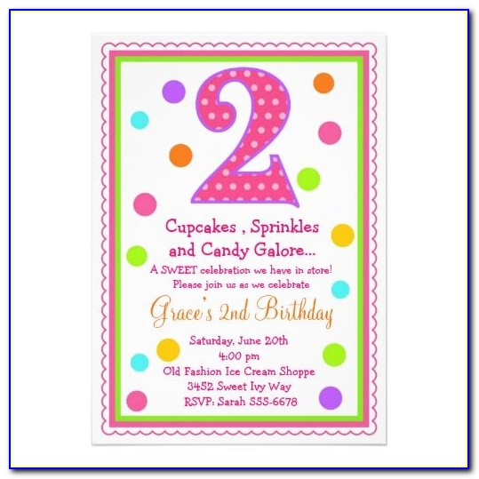 Barney 2nd Birthday Invitations Template