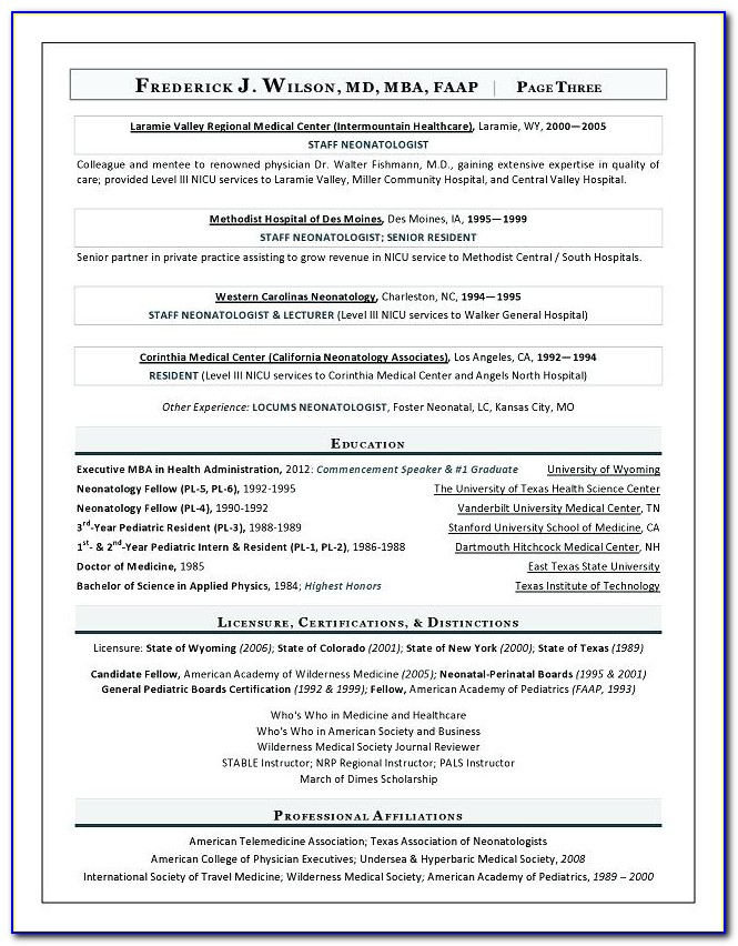 Best Healthcare Executive Resumes
