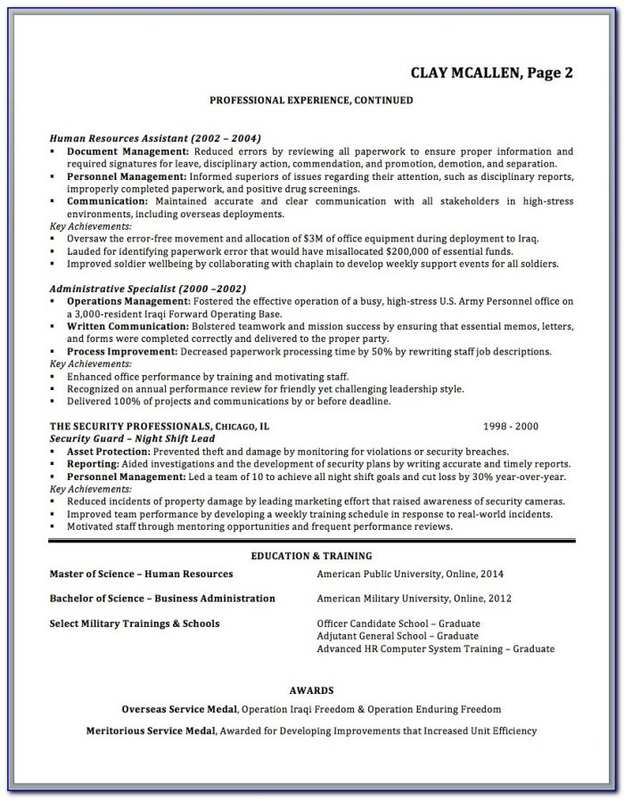 Best Military Resume Writing Service