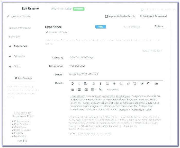 Best Resume Maker Software Free Download