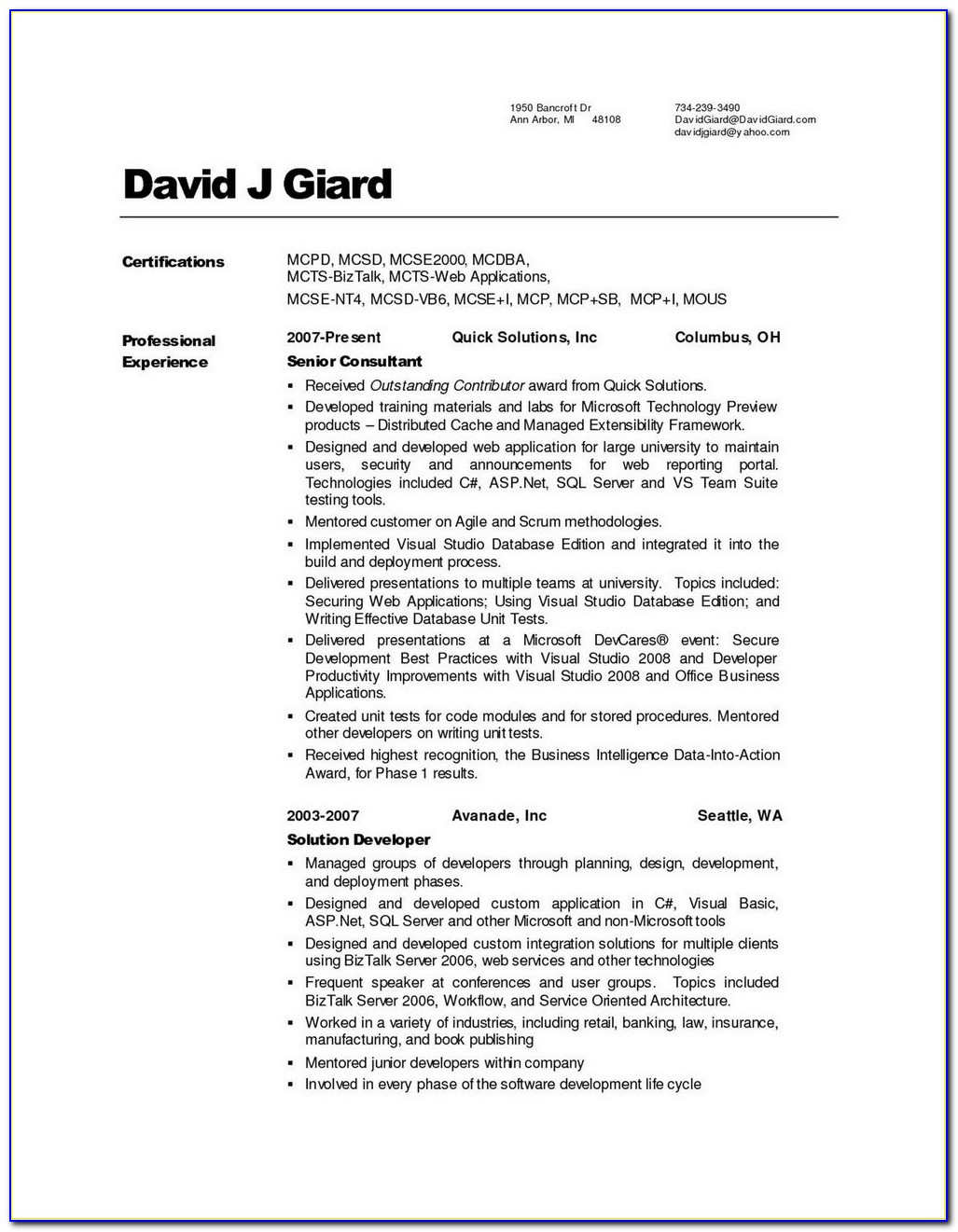 Federal Resume Writing Services Washington Dc