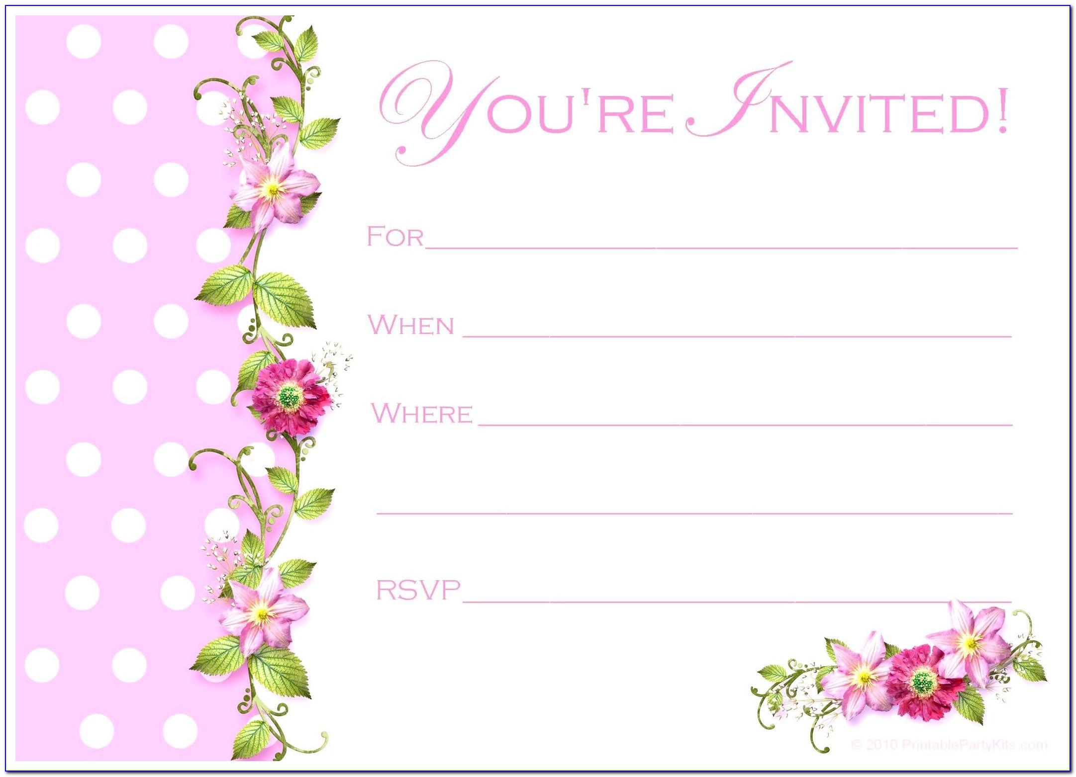 Birthday Party Invitation Card Format