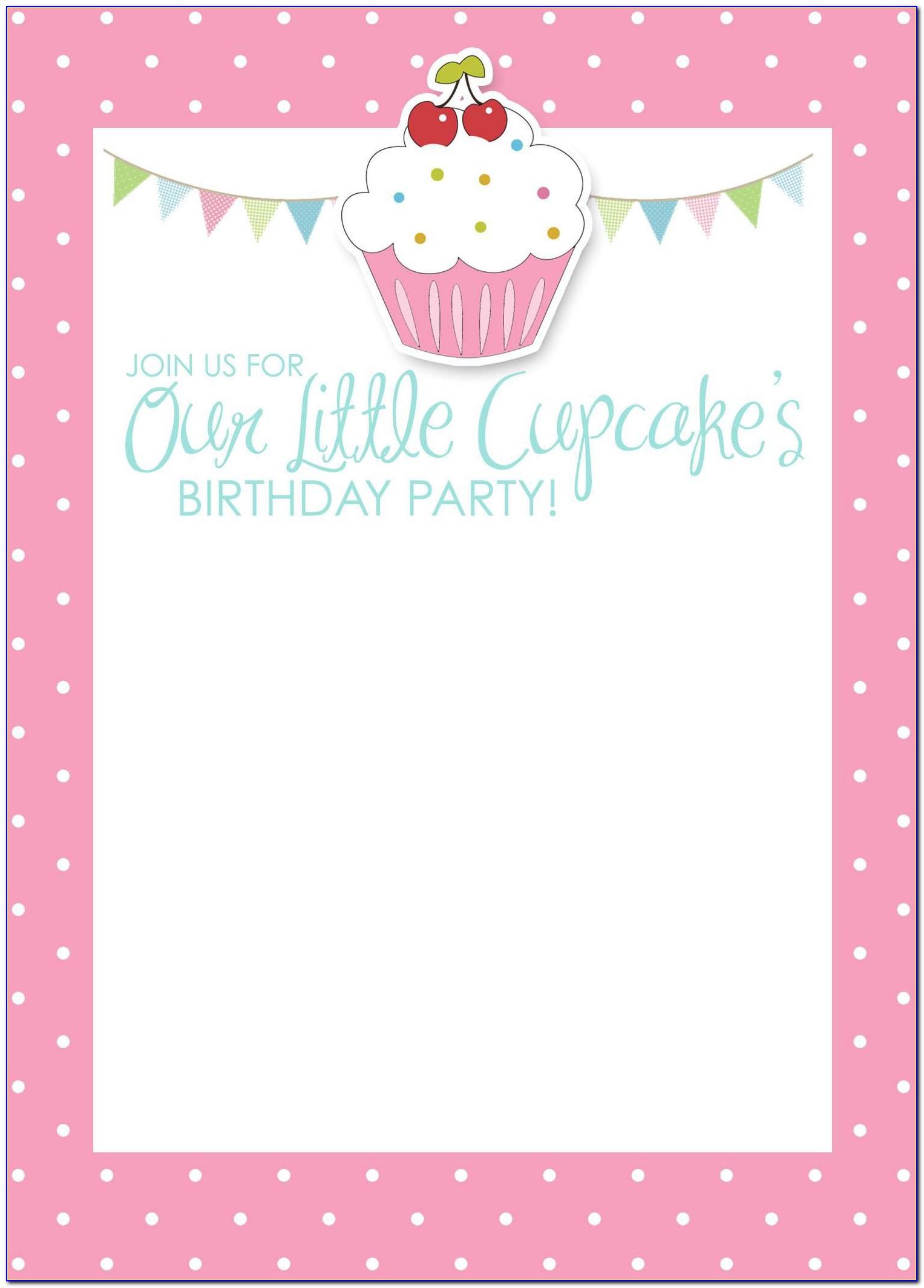 Birthday Party Invitation Cards Samples