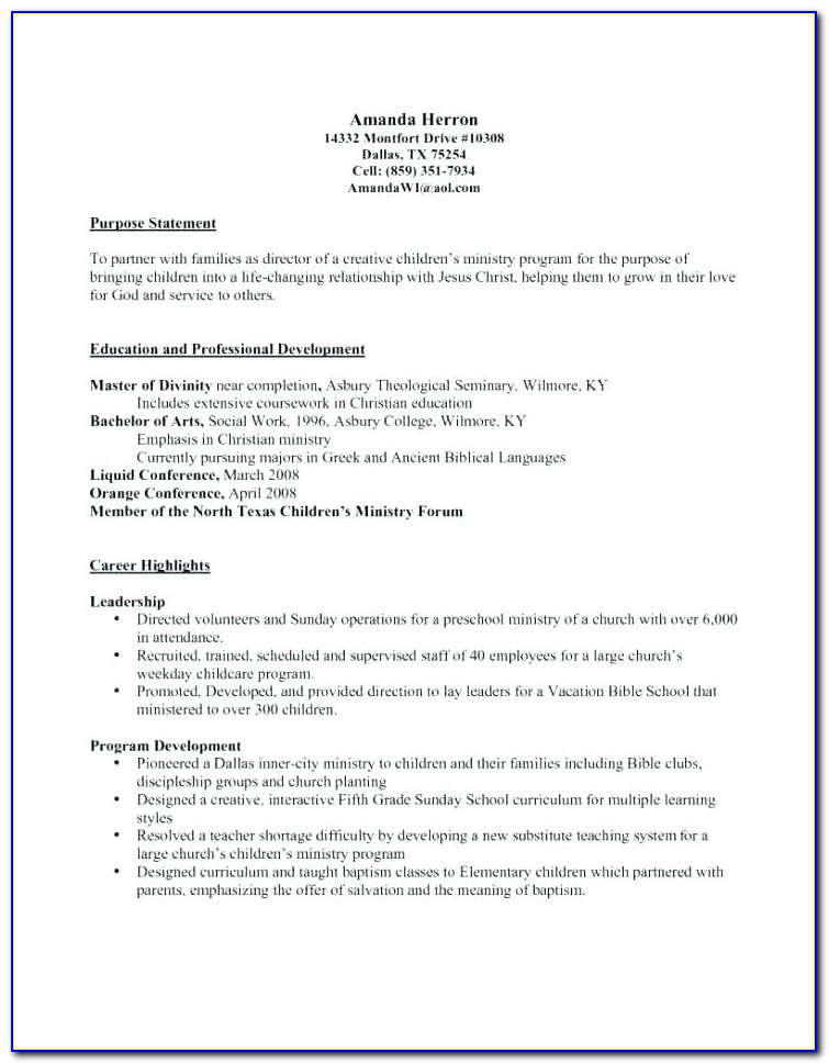 Blank Resume To Fill In