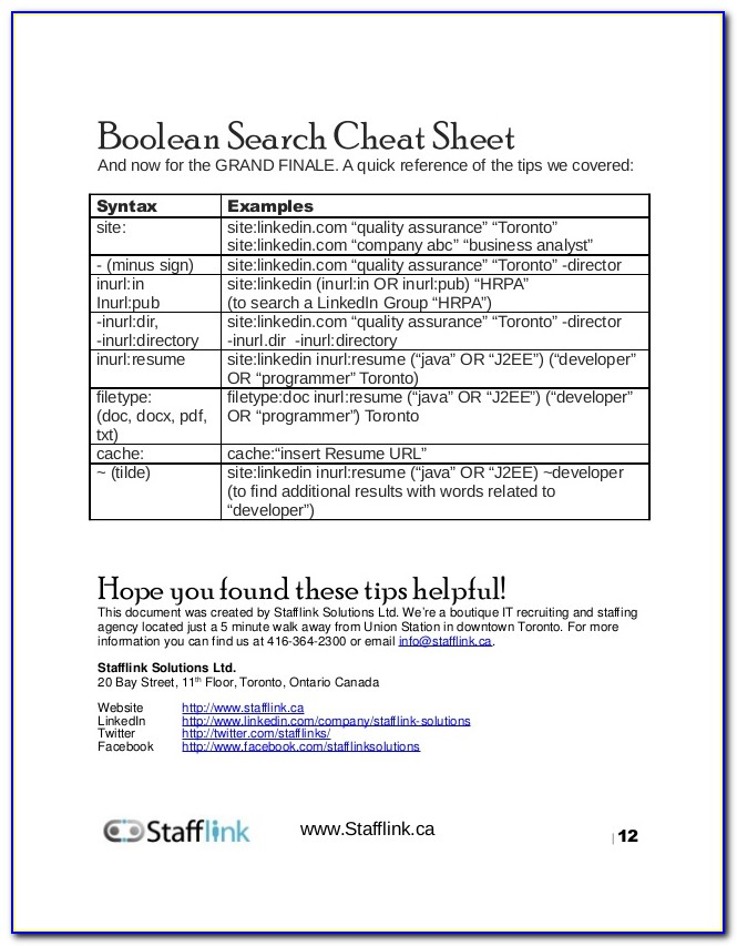 Boolean Strings For Resumes