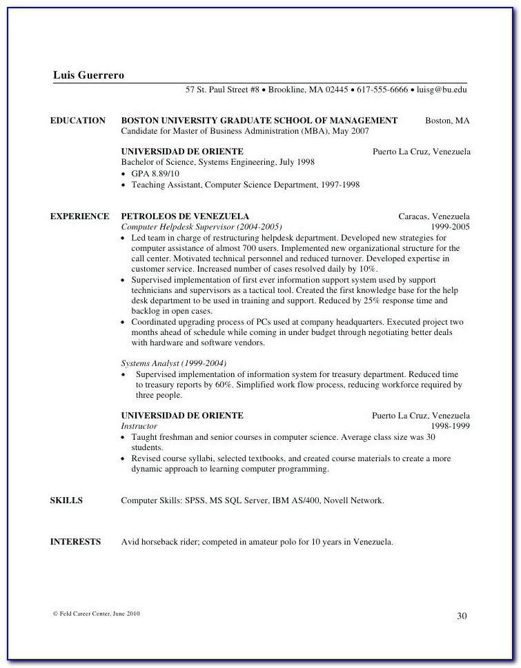 Boston Resume Writer Boston Ma