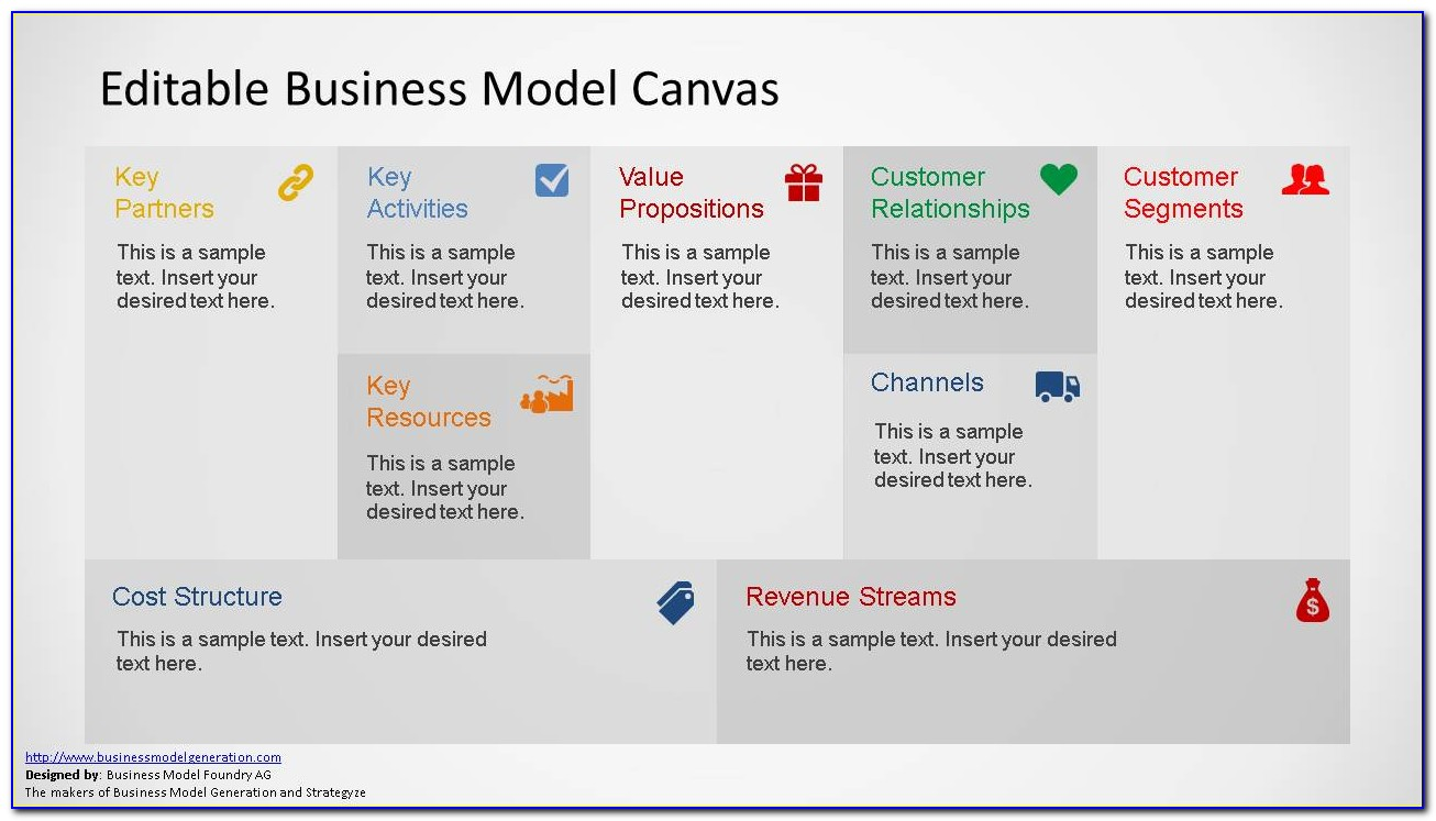 Business Model Canvas Template Ppt Free Download