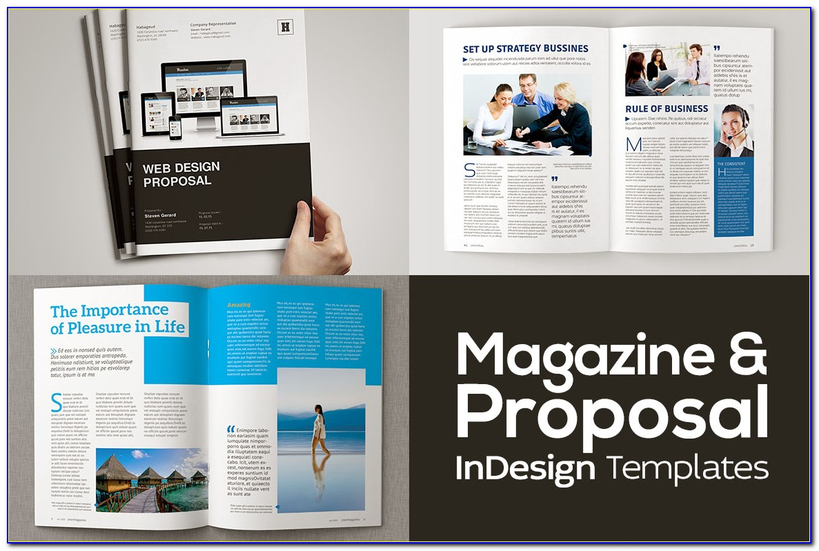 Business Proposal Template Indesign