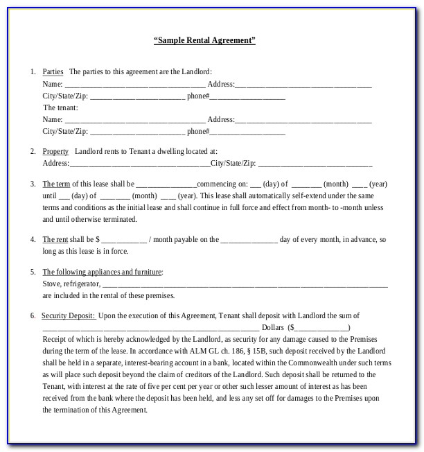 California Residential Lease Agreement Template Free